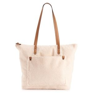 SONOMA Goods for Life™Faux Shearling Tote